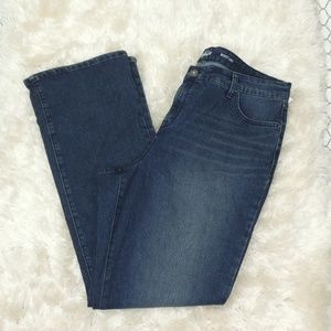 style and co tummy control mid rise boot leg jeans